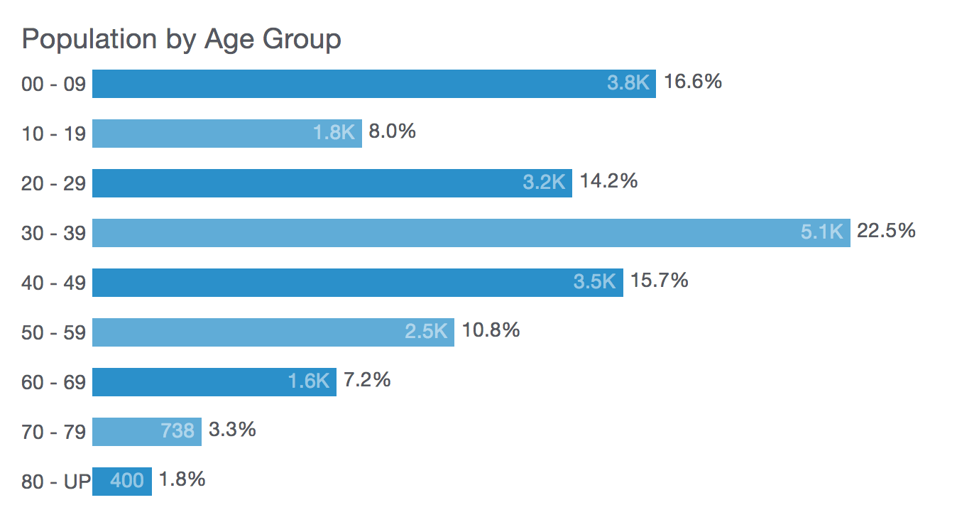 Old Fourth Ward Population by Age Group