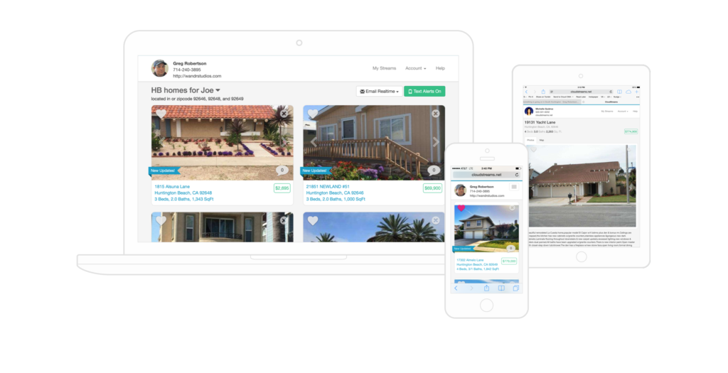 Cloudstreams real estate tools for buyers.