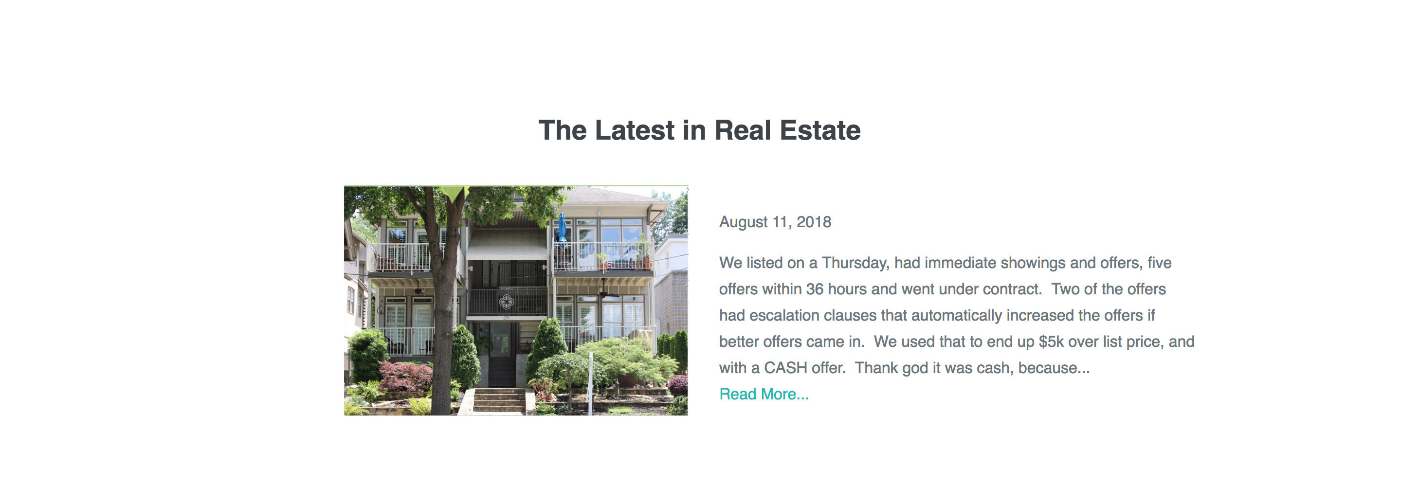 Real Estate Website Improvements - Latest Developments