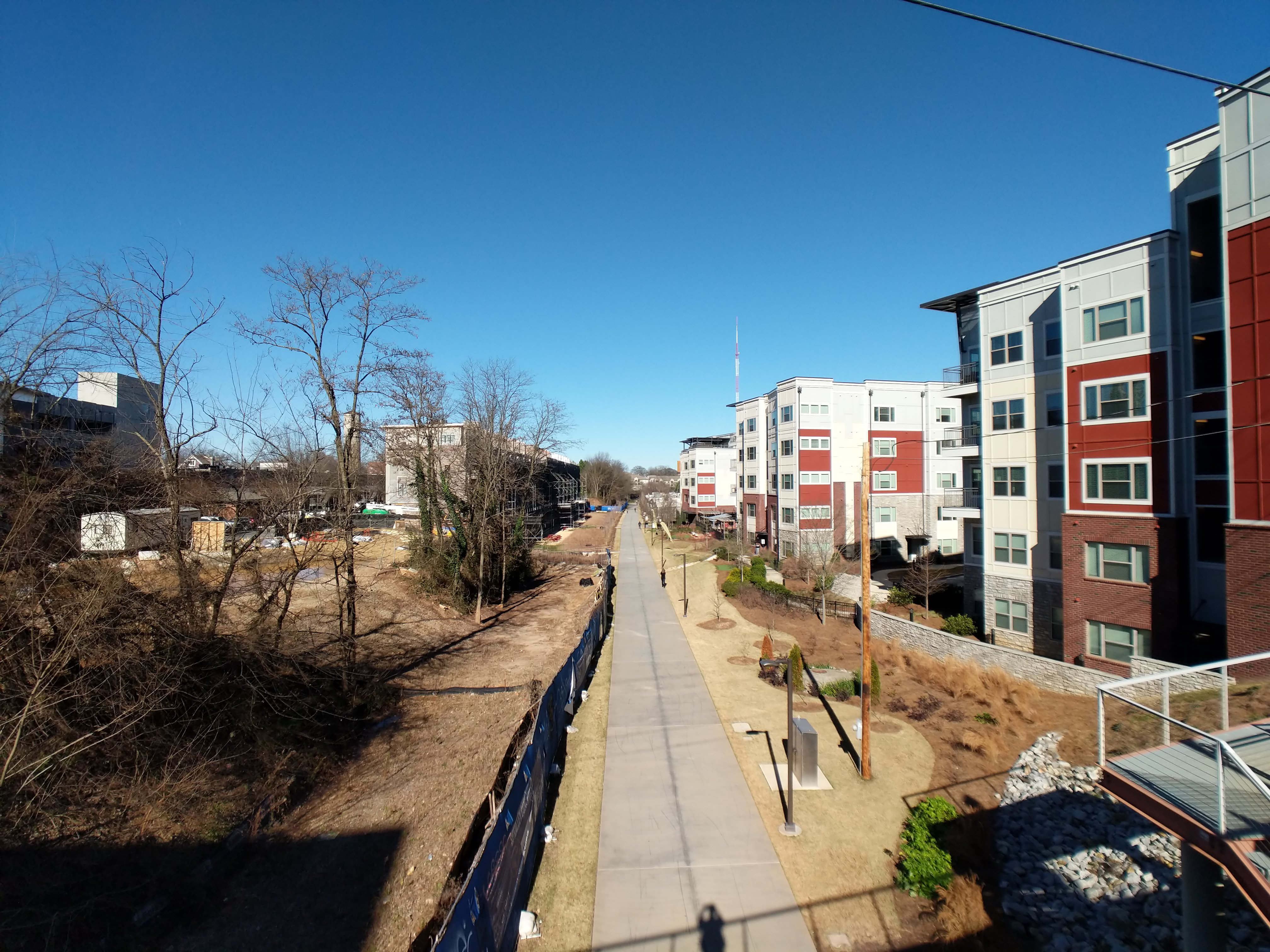 Beltline Eastside Trail connection between Inman Park and Old Fourth Ward near Krog St tunnel.