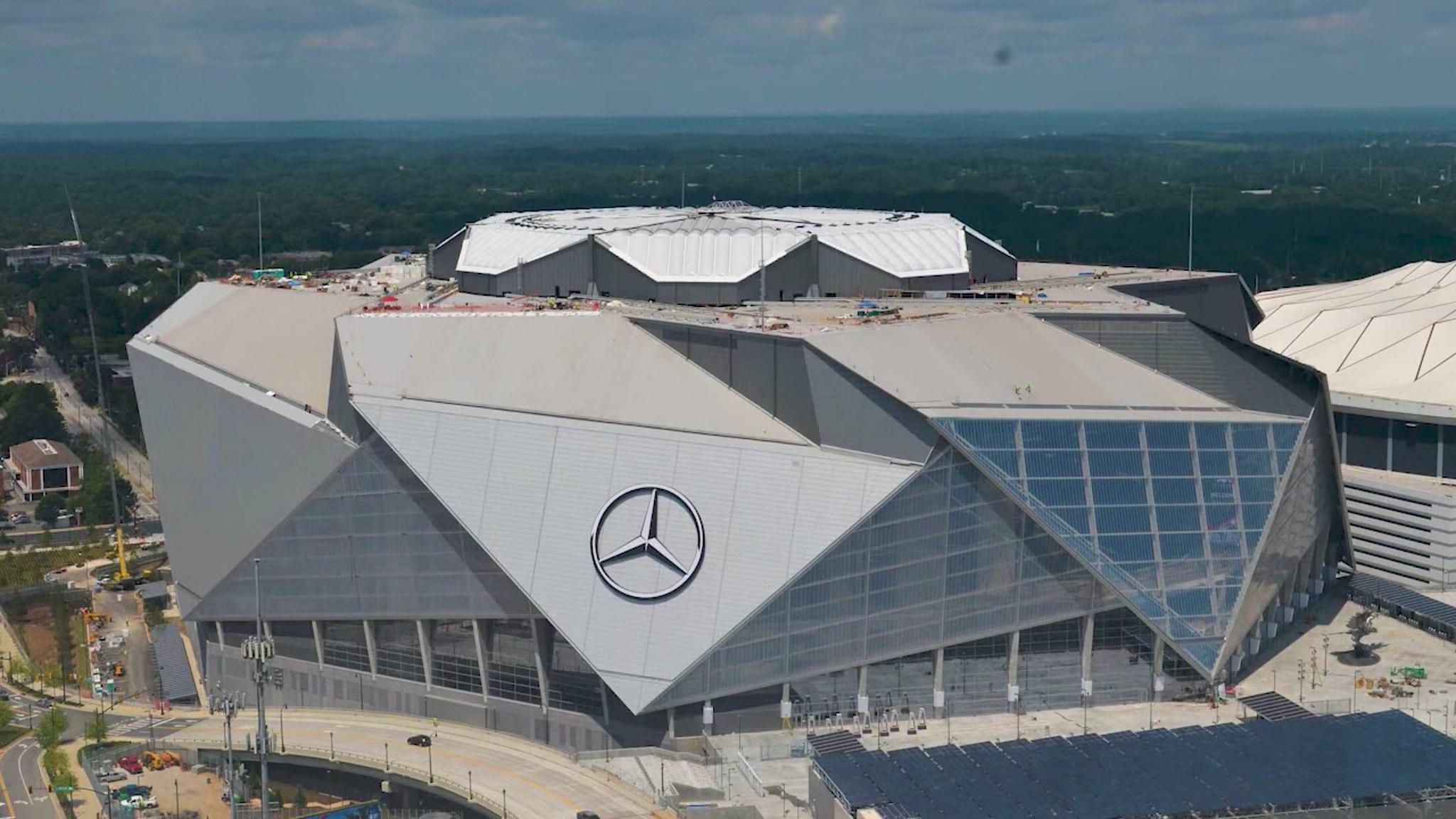Super Bowl LIII at Mercedes-Benz Stadium in downtown Atlanta.