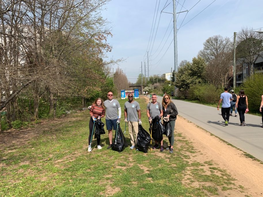 Atlanta Beltline Cleanup by the Real Estate Company