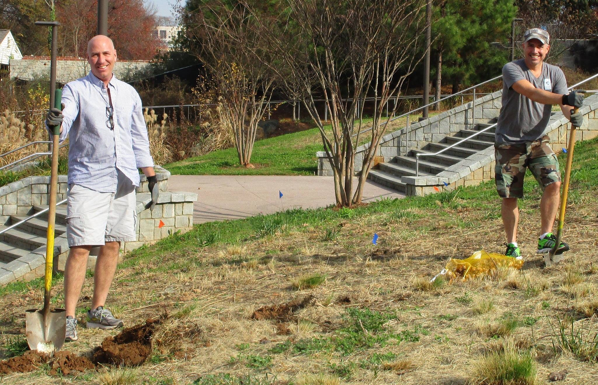 Adopt the Atlanta Beltline: The Real Estate Company volunteers in 2015.