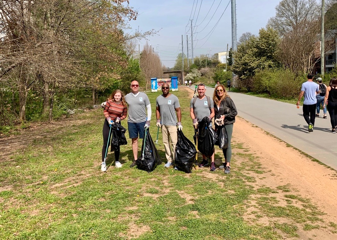 Adopt the Atlanta Beltline: The Real Estate Company volunteers in 2019.
