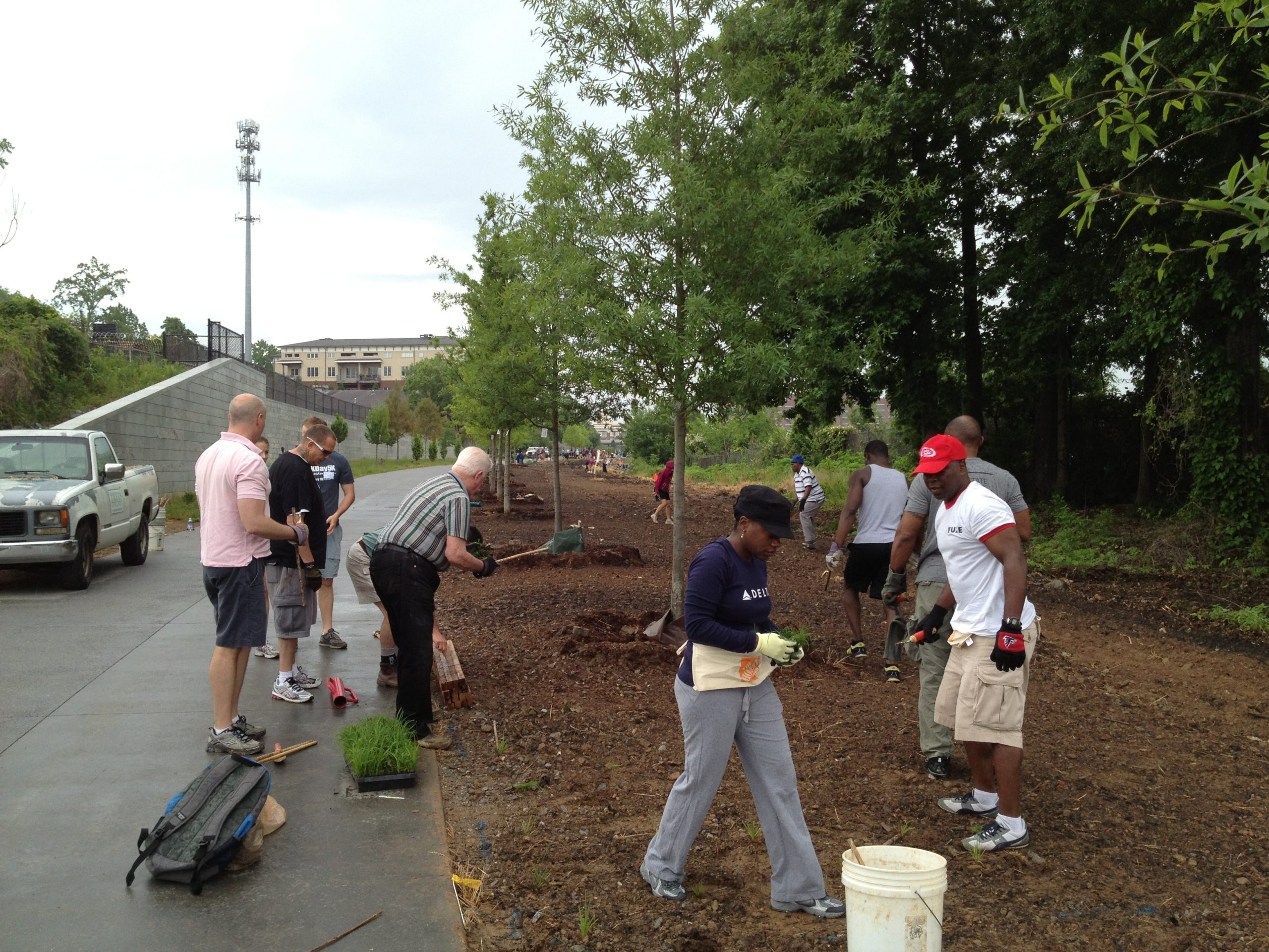 Adopt the Atlanta Beltline: The Real Estate Company volunteers in 2013.
